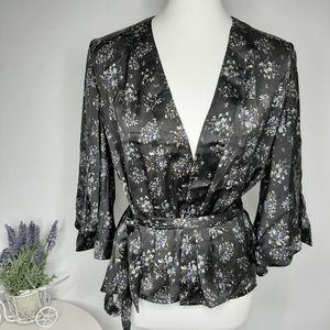 Wild Pearl Kimono Style Satin Blouse size S